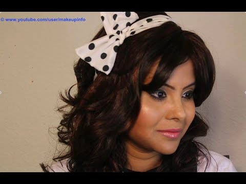 Retro Makeup 70 S Indian Bollywood Style Youtube