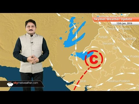 Weather Forecast for January 12: Snowfall over hills of Jammu Kashmir, fog may increase in Delhi