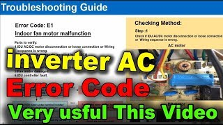 inveter ac error code chart troubleshoot faults tracking methods learn by asr service center