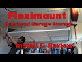 Fleximounts overhead garage storage install & review