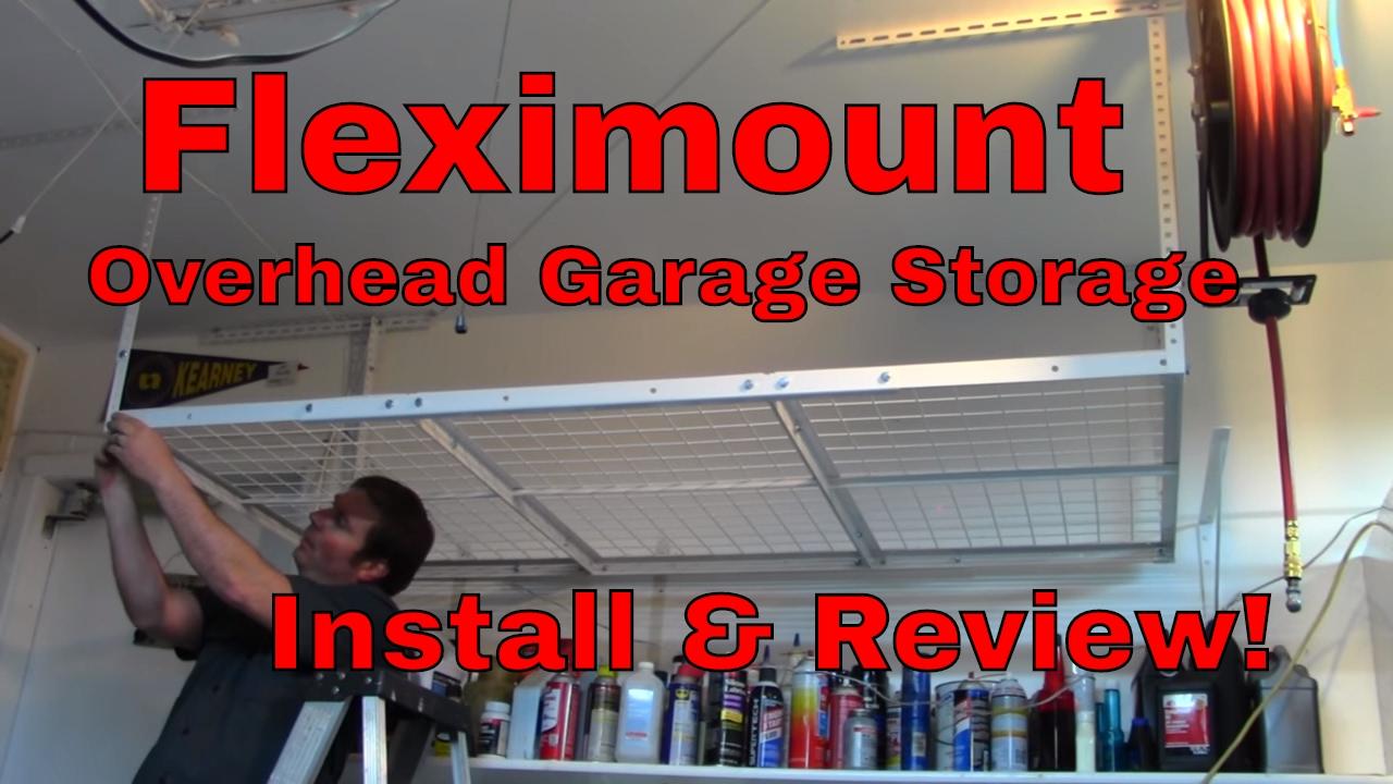 fleximounts overhead garage storage install u0026 review