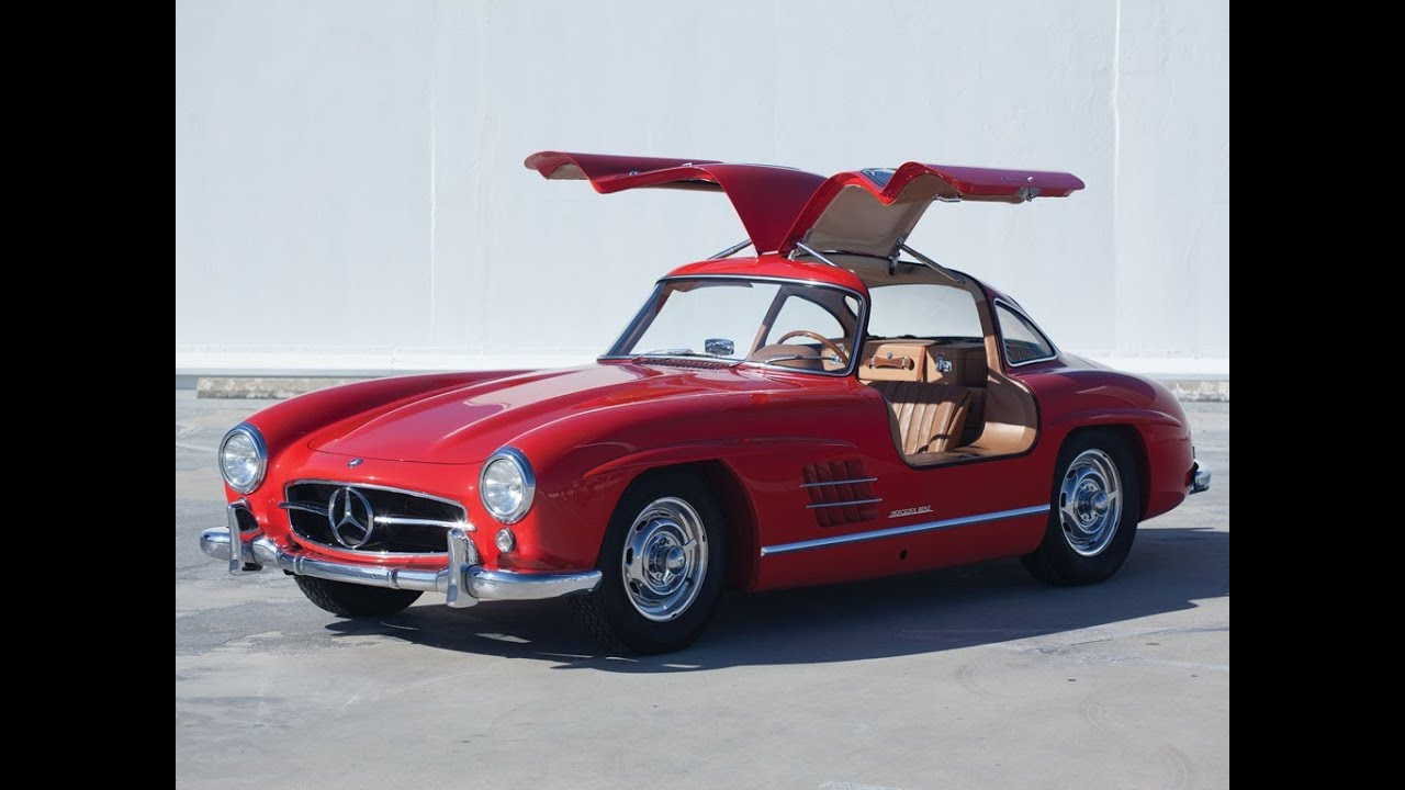 1 265 000 1955 mercedes benz 300sl gullwing youtube for Mercedes benz gullwing 1955