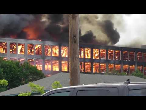 Fire at the Sanford Mills 6/23/2017   You Know You're From Sanford-Springvale if'