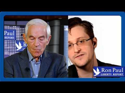 Dr. Ron Paul Interviews Whistleblower Edward Snowden