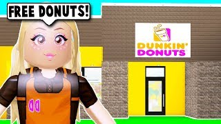 I MADE A DONUT SHOP ON BLOXBURG! (Roblox)