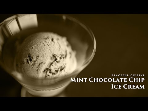 [No Music] How to make Mint Chocolate Chip Ice Cream