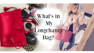 What's in my bag? Longchamp Tote