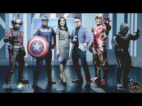 ZERO Cosplay Indonesia Live @ Metro Plus Siang, Metro TV (Marvel Civil War Cosplay)