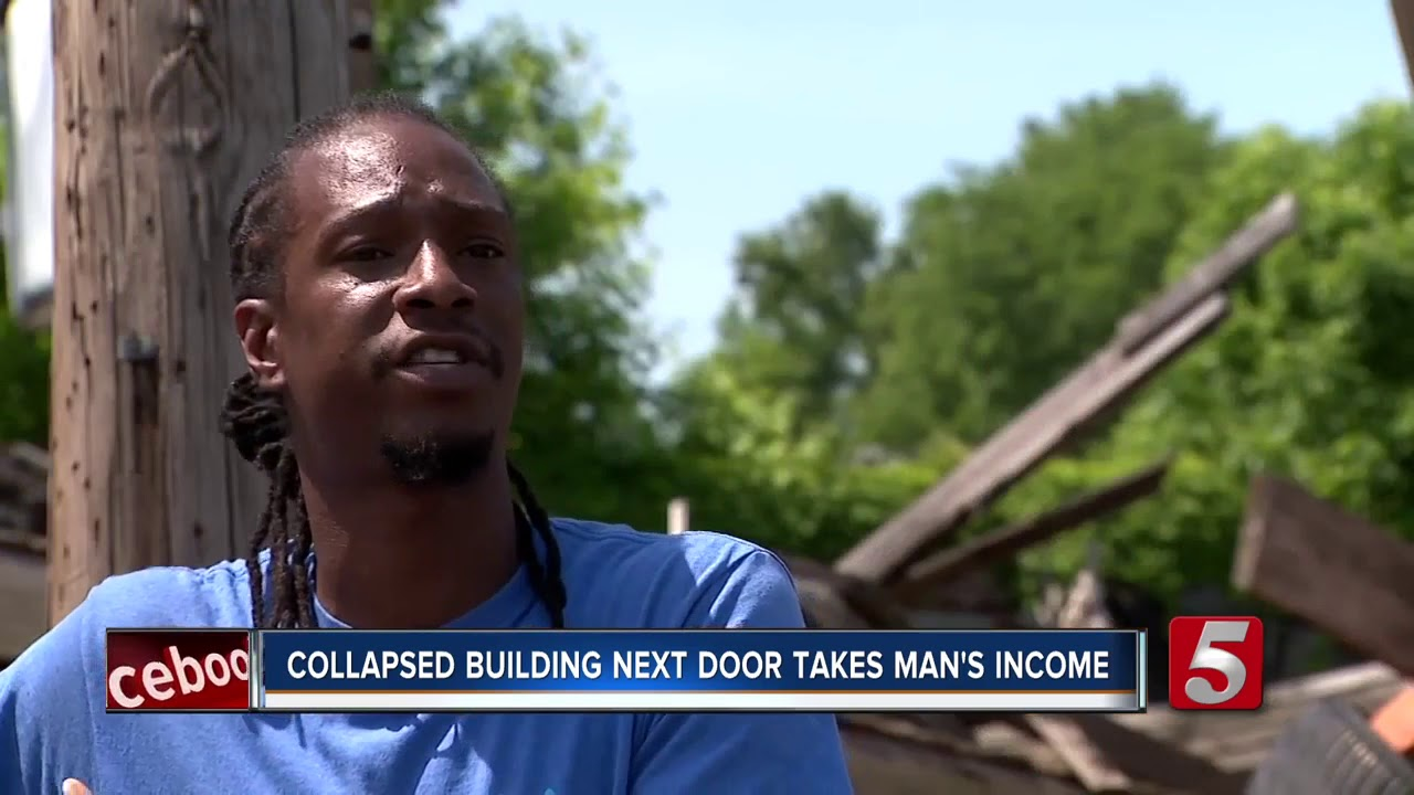 SPRINGFIELD, TENNESSEE: COLLAPSED BUILDING TAKES BLACK MAN'S INCOME