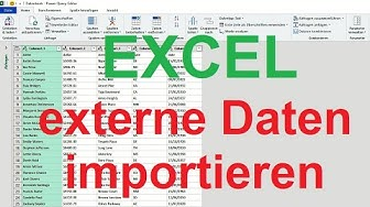 Excel 2019: CSV-Datei in Tabelle umwandeln - Power Query-Editor [importieren, externe Daten abrufen]