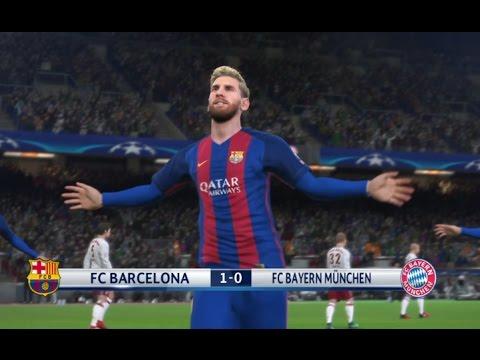Messi vs Bayern Munich PES 2017 Difficulté Superstar Gameplay PS4
