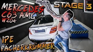 Mercedes C63 AMG W204 | Stage 3 + IPE Fächerkrümmer + Probefahrt | SimonMotorSport | #410