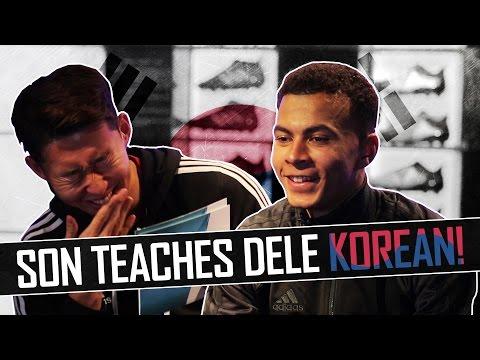Heung-Min Son teaches Dele Alli Korean! 🇰🇷