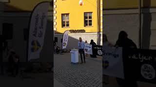 Alternativ för Sveriges torgmöte i Uppsala (Livesändning - Del 2)