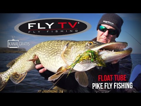 FLY TV - Float Tube Pike Fly Fishing in Holland