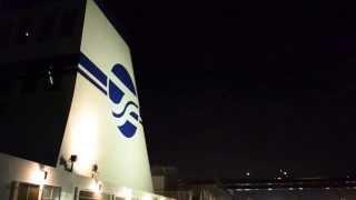 太平洋フェリー「きそ」 名港西大橋通過中!