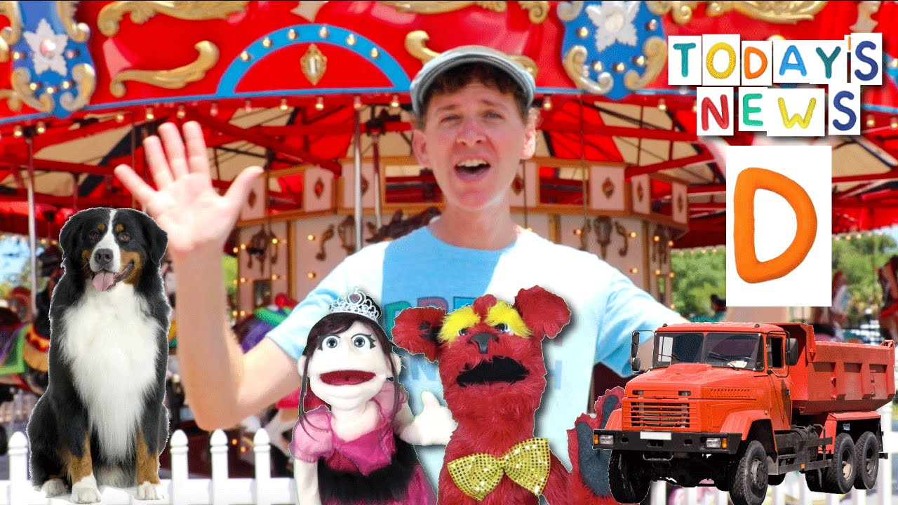 Today's News Show With  Matt   Merry-Go-Round & Letter D   Learn English Kids