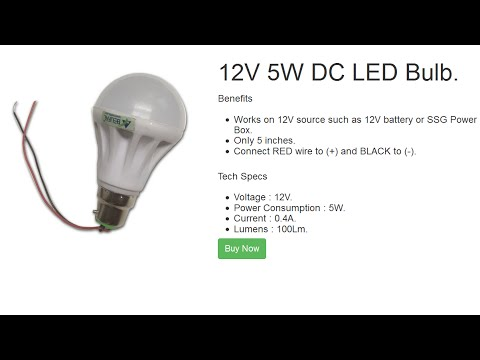 12v dc led bulb by belifal works on any 12v battery youtube. Black Bedroom Furniture Sets. Home Design Ideas