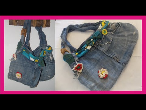 7778e2a242 BOLSO DE JEANS RECICLADO - YouTube