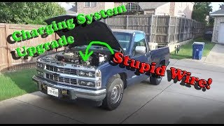 Chevy 1500 OBS Charging System Upgrade - YouTube | Battery Charging Wiring 1991 Chevy Obs |  | YouTube