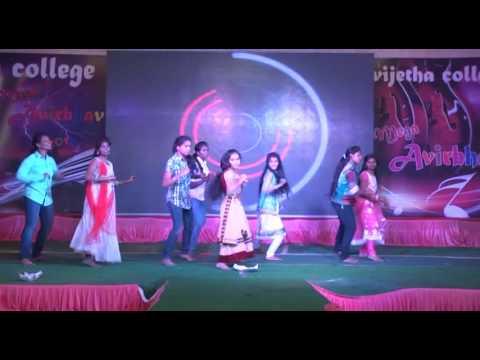 mega avirbhav 2016 chinuku chinuku dance by madinaguda girls