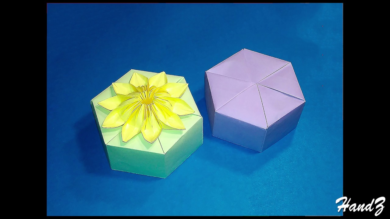 origami hexagonal gift box with lid easy tutorial of paper hexagon favor box tomoko fuse  [ 1280 x 720 Pixel ]