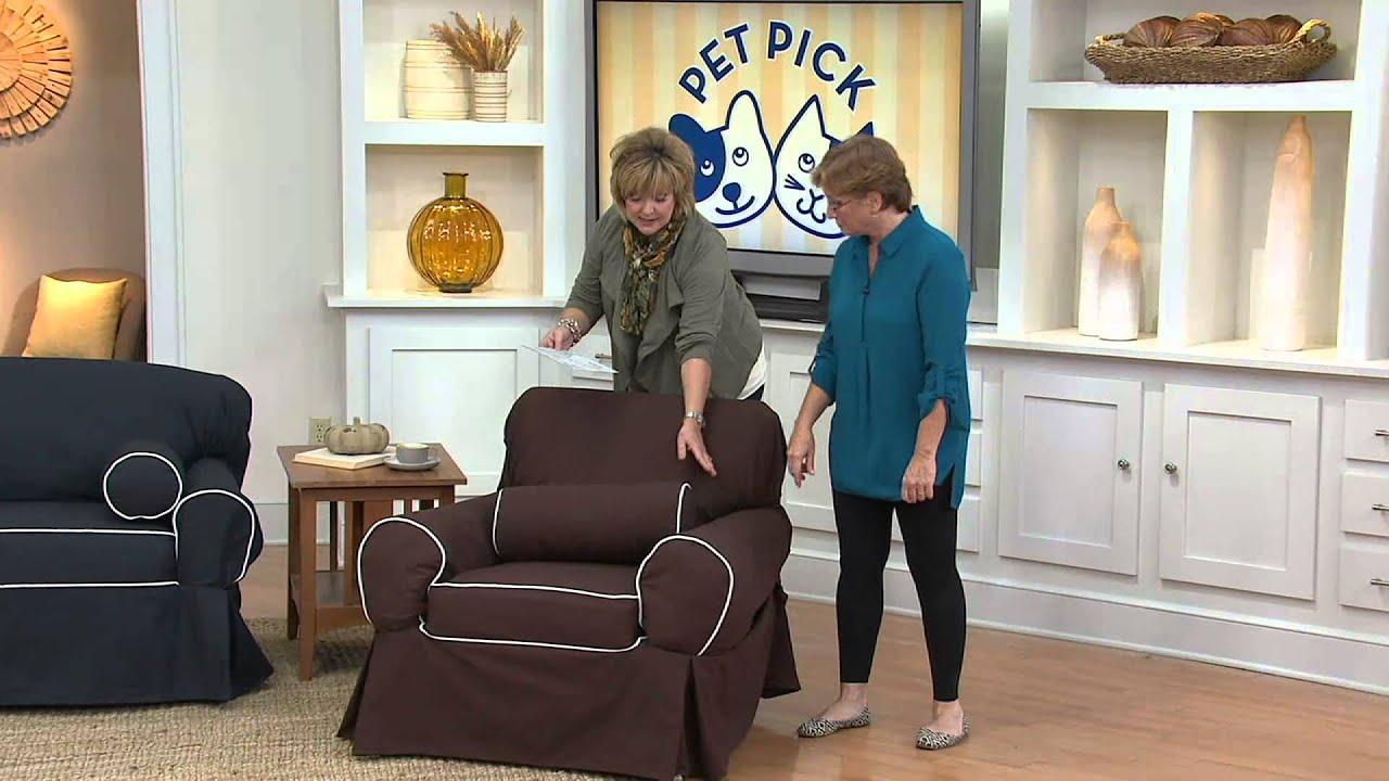 Sure Fit Monaco Sofa 1 piece Slip Cover with Carolyn Gracie