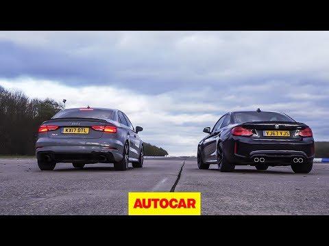Drag Race: Audi RS3 Vs BMW M2, Rolling Race   What's The Fastest £50k Compact Car?   Autocar