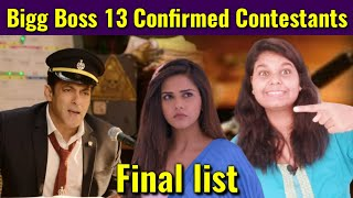 bigg boss 13 Confirmed Contestants List of Salman Khan Show | Bollywood Crazy News