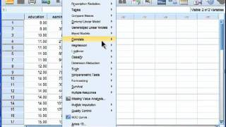 Linear Regression - SPSS (part 1)