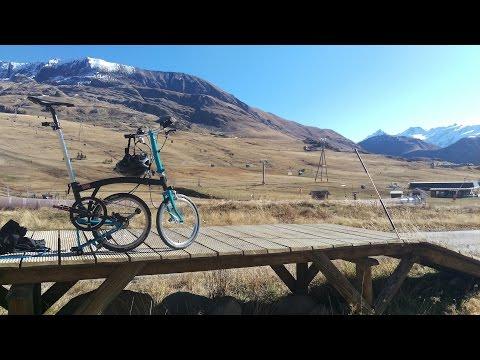 Alpe d'Huez on a Brompton Folding Bicycle