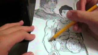 Sylvester Stallone Speed-Drawing