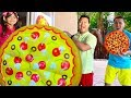 Emma Pretend Play w/ Giant Pizza Fast Food Drive Thru Food Toys