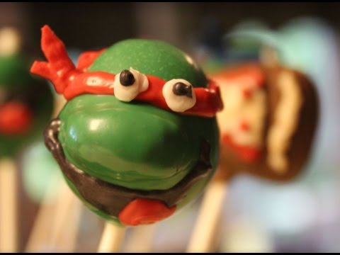 Ninja Turtle and Pizza Cake Pops