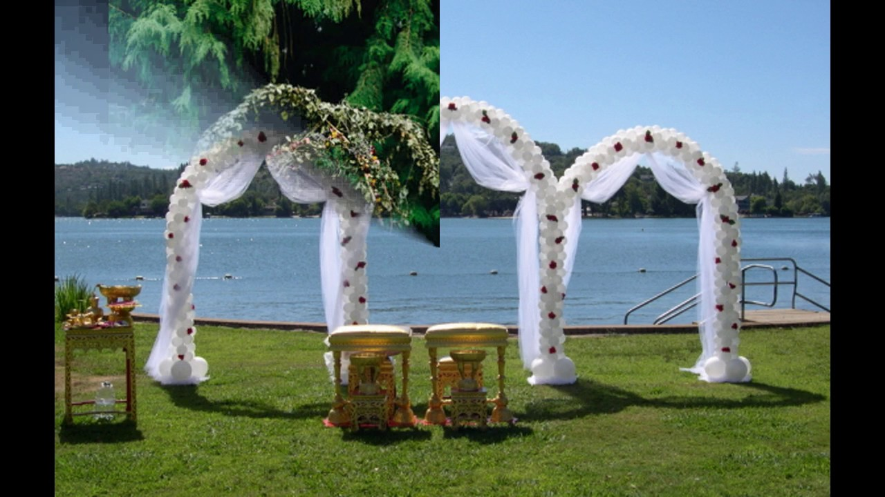 Ideas de la decoraci n del arco de la boda youtube for Atuendo para boda en jardin