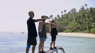 Peter Feuk, Mathias Kristoffersson och Jannika Navjord gör upp om en plats på plan… – Robinson (TV4)