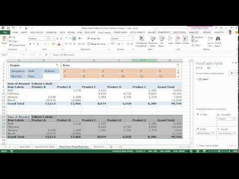 Display data from the Grand Total column of a Pivot Table on a Stacked Pivot Chart