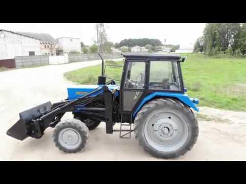 Купить синий трактор БЕЛАРУС МТЗ 82.1 с куном - YouTube