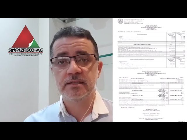 Presidente do Sinfazfisco-MG comenta situação financeira de Minas Gerais