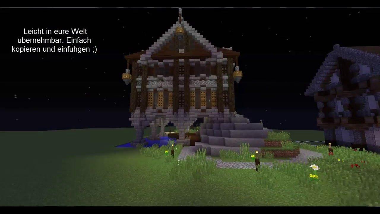Minecraft Mittelalter Haus Am Wasser Build It For You YouTube - Minecraft hauser kopieren