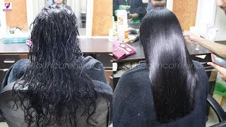 Get Shiny Hair - Hair Silk Treatment Step By Step Straight Hair #healthcarehindi