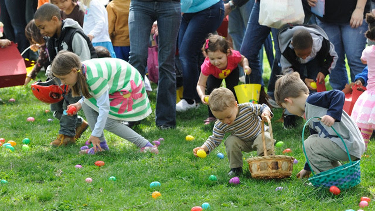 Adults Trample Children For Easter Egg Hunt Youtube