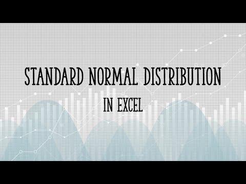 How To Graph A Standard Normal Distribution In Excel 2007