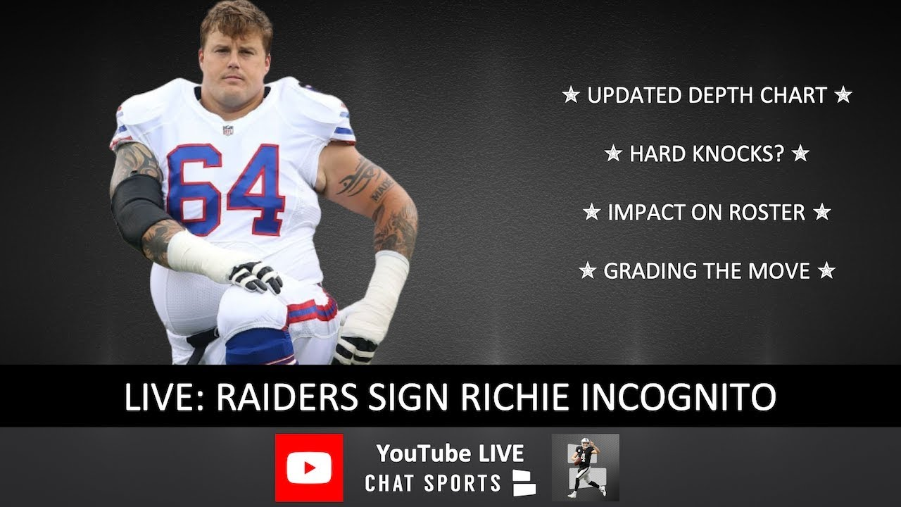 Raiders sign guard Richie Incognito
