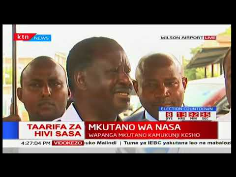 """""""It's DP William Ruto who came up with this thing of nusu mkate"""" Raila Odinga"""