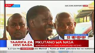 """It's DP William Ruto who came up with this thing of nusu mkate"" Raila Odinga"