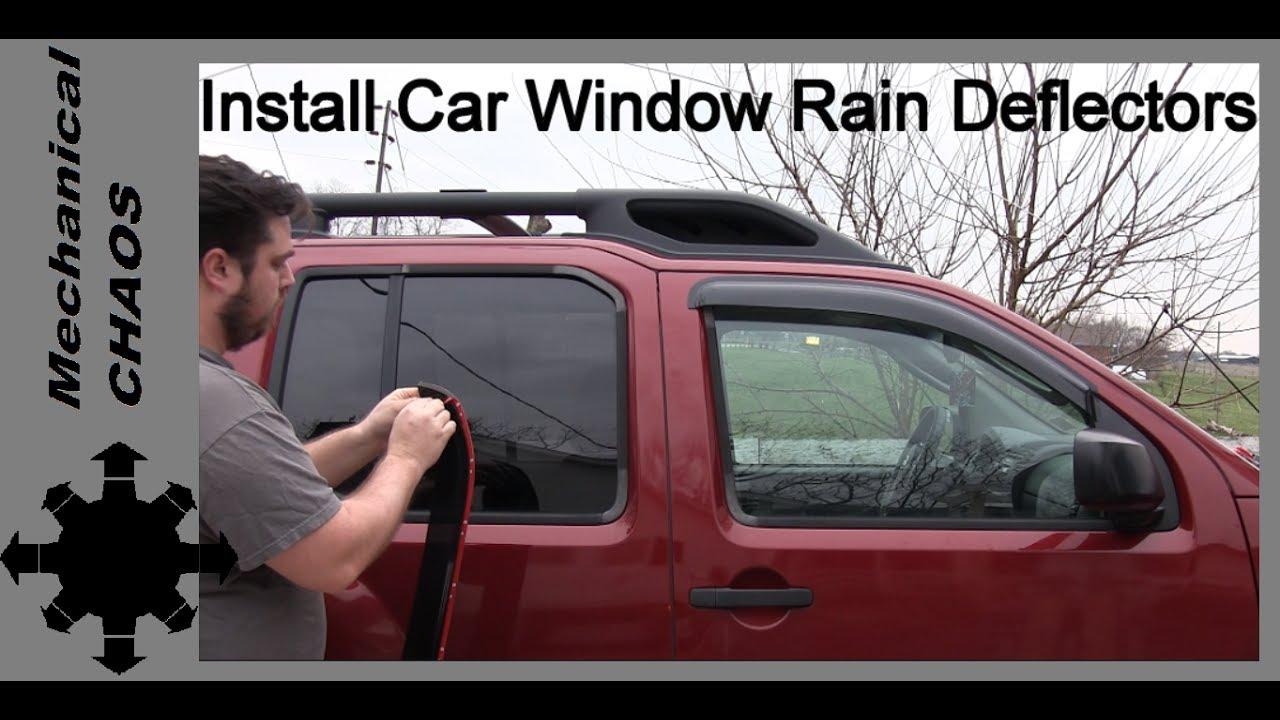 DNA MOTORING WVS-201 4pcs Window Vent Visor Deflector Rain Guard Dark Smoke