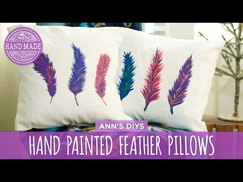DIY Hand Painted Feather Pillows - HGTV Handmade