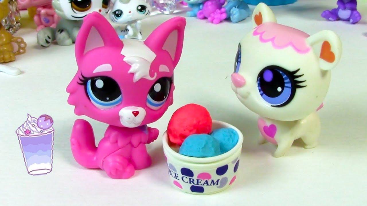 Bobble head pink cat white polar bear littlest pet shop lps toy review