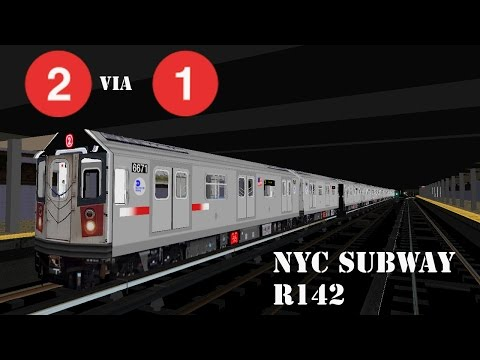 OpenBVE - NYC Subway R142 (2) to 137th Street-City College [7th Ave Exp]